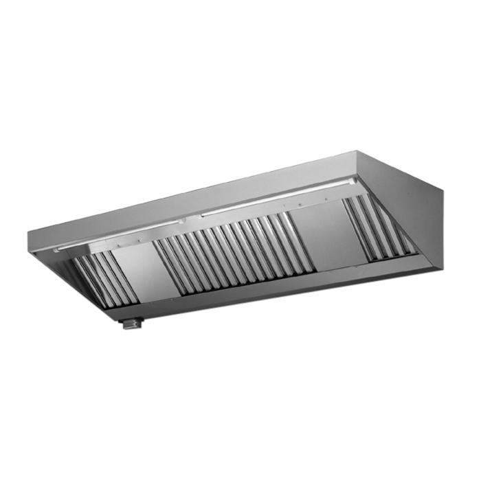 Ventilazione<br>Master a parete in acciaio inox AISI 430 con filtri 2800x1100 mm